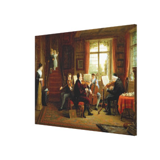 The Music Lesson Canvas Print