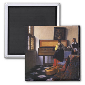 The Music Lesson Square Magnet