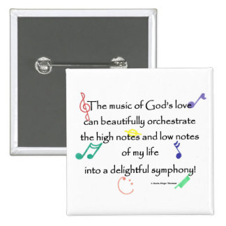 the music of God's love 15 Cm Square Badge