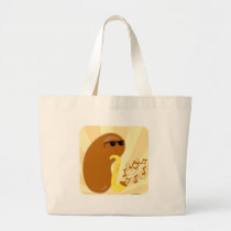 The Musical Fruit Large Tote Bag