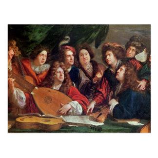 The Musical Society, 1688 Postcard