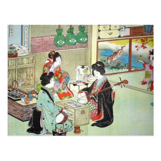 The Musicians - Devoirs Japanese Collection Postcard
