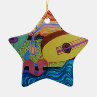 The musician's room christmas ornament