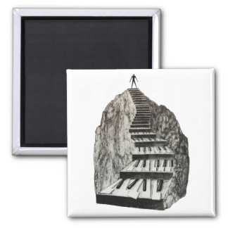 The Musician's Way 1 Square Magnet