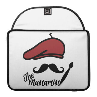 The Mustartist custom MacBook sleeve