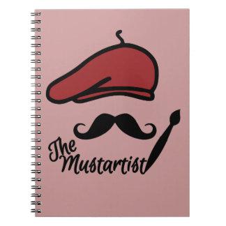 The Mustartist custom notebook