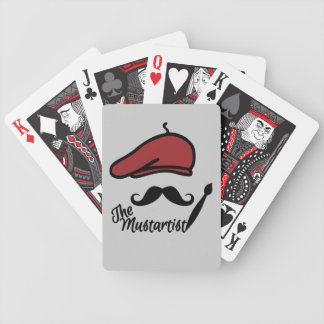 The Mustartist custom playing cards