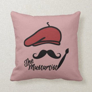 The Mustartist custom throw pillow