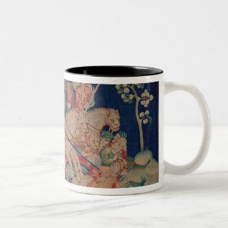 The Myriads of Horsemen Two-Tone Coffee Mug
