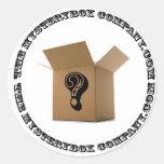 The Mystery Box Company round Round Sticker