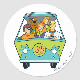The Mystery Machine Shot 16 Classic Round Sticker