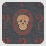 The Mystery Skull Square Sticker