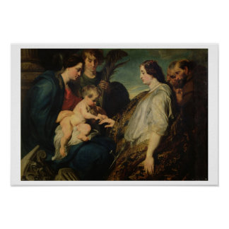 The Mystic Marriage of St. Catherine, 1618/20 (oil Poster