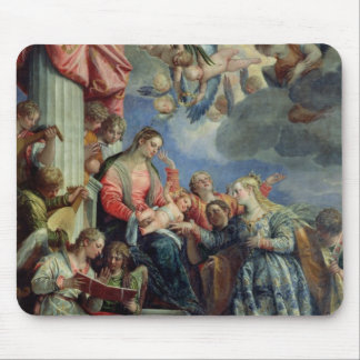 The Mystic Marriage of St. Catherine Mouse Mat