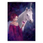 The Mystic Unicorn Greeting Card