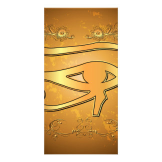 The mystical all seeing eye photo card template