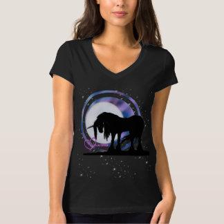 The Mystical Black Unicorn (Purple/Blue Blur) T-Shirt