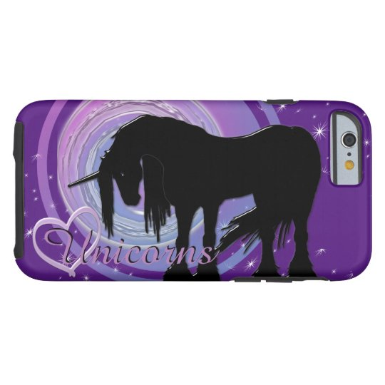 The Mystical Black Unicorn (Purple/Blue Blur) Tough iPhone