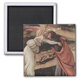 The Mystical Nativity Square Magnet