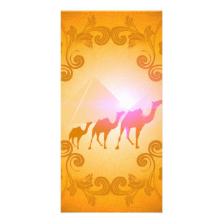 The myth and the secrets of the pyramids photo card template