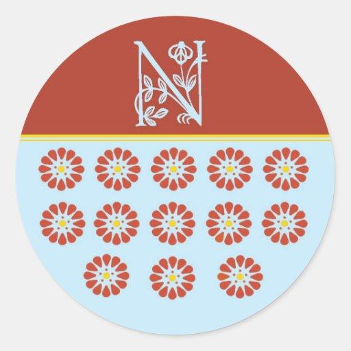 The N Spot Initial Sticker