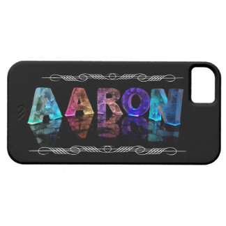 The Name Aaron in 3D Lights (Photograph) Barely There iPhone 5 Case