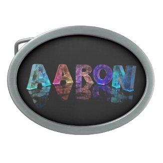 The Name Aaron in Lights Belt Buckle