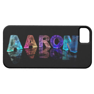 The Name Aaron in Lights Case For The iPhone 5