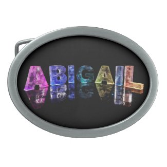 The Name Abigail in Lights Belt Buckle