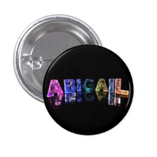 The Name Abigail in Lights Buttons