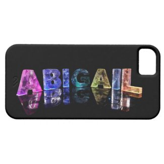 The Name Abigail in Lights iPhone 5 Case