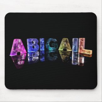The Name Abigail in Lights Mouse Pads