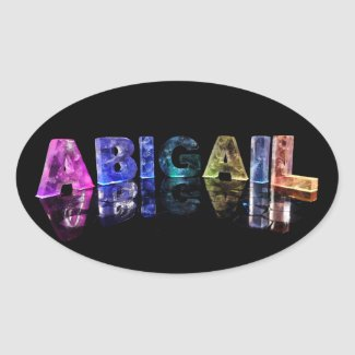 The Name Abigail in Lights Stickers