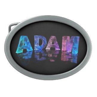 The Name Adam in Lights Belt Buckles