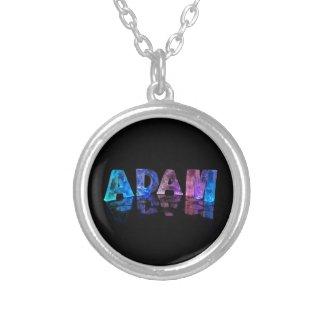 The Name Adam in Lights Custom Jewelry