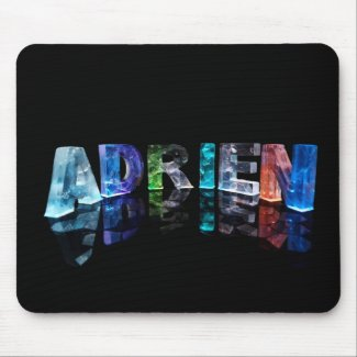 The Name Adrien in Lights Mouse Mat
