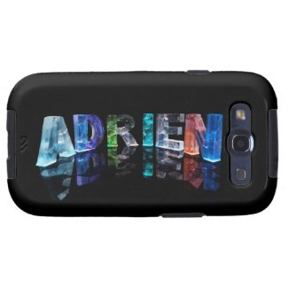 The Name Adrien in Lights Samsung Galaxy S3 Covers