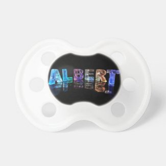 The Name Albert in Lights Baby Pacifiers
