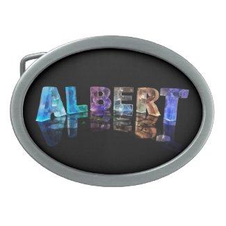 The Name Albert in Lights Belt Buckle