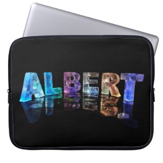 The Name Albert in Lights Computer Sleeve