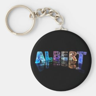 The Name Albert in Lights Key Chain