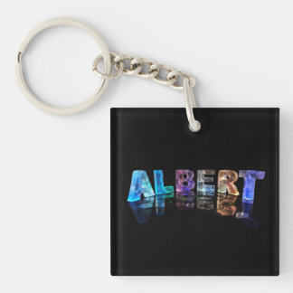 The Name Albert in Lights Key Ring