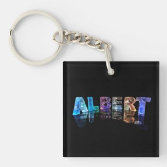 The Name Albert in Lights Keychains