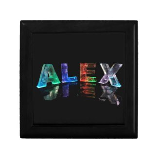 The Name Alex in Lights Gift Boxes