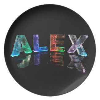 The Name Alex in Lights Plate