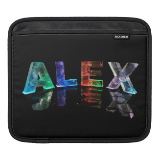 The Name Alex in Lights Sleeves For iPads