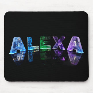 The Name Alexa in Lights Mouse Mat
