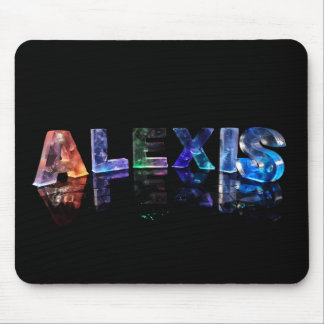 The Name Alexis in Lights Mouse Mat