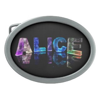 The Name Alice in Lights Belt Buckles