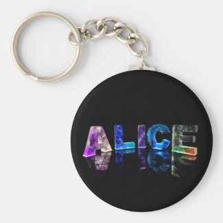 The Name Alice in Lights Key Chains